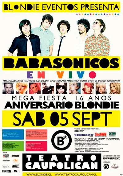 Babasónicos Aniversario Blondie