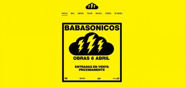 Babasónicos sitio web