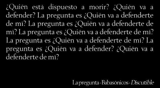 Babasónicos La Pregunta Discutible